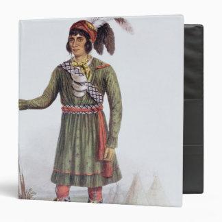 """Osceola o """"sol naciente"""", un líder del Seminole Carpeta 1 1/2"""""""