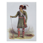 """Osceola o """"sol naciente"""", un líder del Seminole Impresiones"""