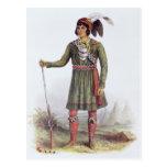 "Osceola o ""sol naciente"", un líder del Seminole Tarjeta Postal"