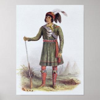 Osceola or 'Rising Sun', a Seminole Leader Poster