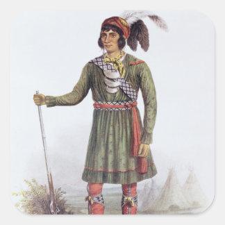 Osceola or 'Rising Sun', a Seminole Leader Square Sticker