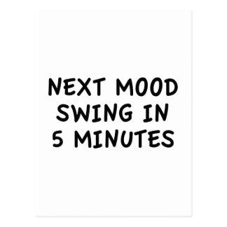 Oscilación de humor siguiente en 5 minutos tarjeta postal