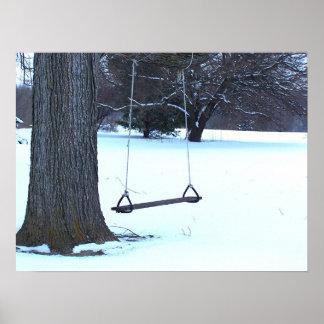 Oscilación del árbol en invierno impresiones