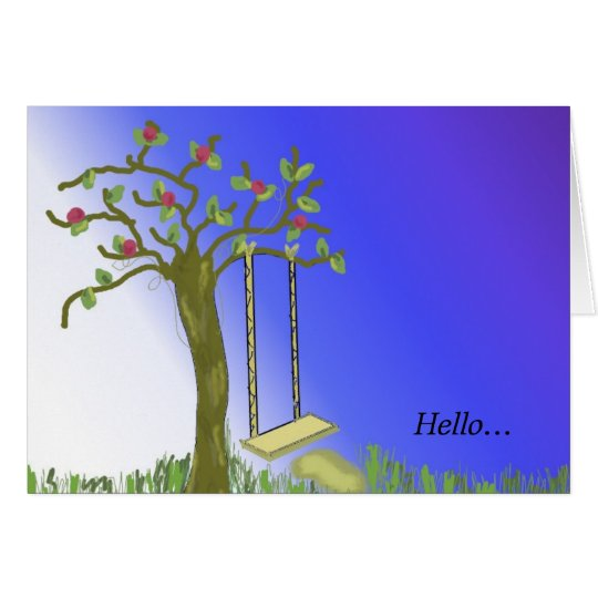 Oscilación del árbol tarjeta pequeña