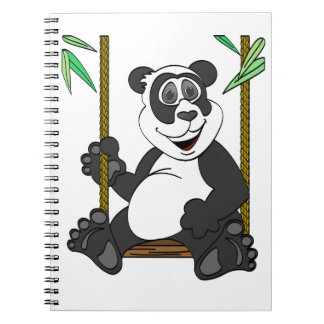 Oscilación del dibujo animado del oso de panda libreta