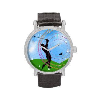 Oscilación del golf en los vínculos relojes de pulsera
