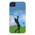 Oscilación del golf iPhone 4 Case-Mate cárcasas