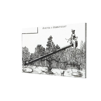 Oscilación del jardín en Rambouillet, de 'DES N de Impresión En Lienzo