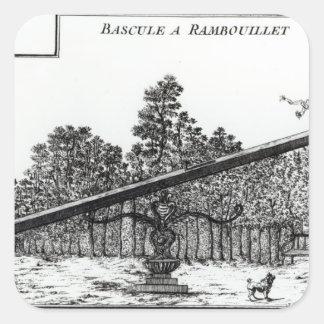 Oscilación del jardín en Rambouillet, de 'DES N de Pegatina Cuadrada