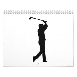 Oscilación del jugador de golf calendario