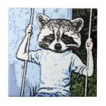 oscilación del mapache azulejos