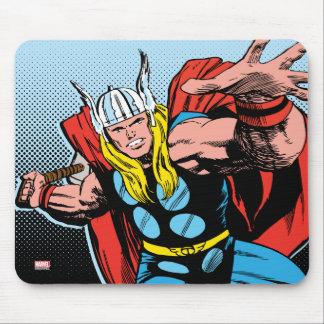 Oscilación detrás Mjolnir del Thor Alfombrillas De Ratones