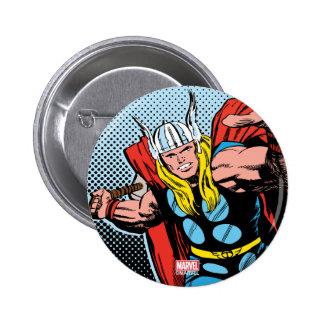 Oscilación detrás Mjolnir del Thor Pin Redondo De 2 Pulgadas