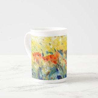 Oscilación II de las flores Taza De Porcelana