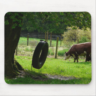Oscilación pasado de moda del neumático del país tapetes de ratón