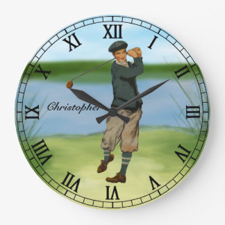 Oscilación personalizado del golf del golfista de reloj redondo grande