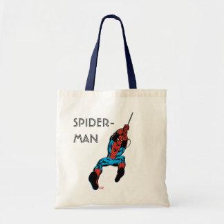 Oscilación retro del Web de Spider-Man Bolsa Tela Barata