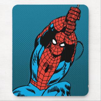 Oscilación retro del Web de Spider-Man Mousepads