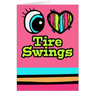 Oscilaciones brillantes del neumático del amor del tarjeta de felicitación