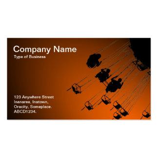 Oscilaciones y cruces giratorios - naranja de tarjetas de visita