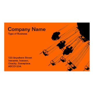 Oscilaciones y cruces giratorios - naranja tarjetas de visita