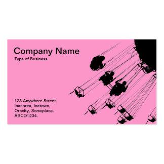 Oscilaciones y cruces giratorios - rosa tarjetas de visita