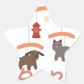Oscile a un bebé del adiós pegatina en forma de estrella