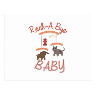 Oscile a un bebé del adiós tarjeta postal