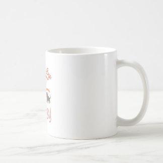 Oscile a un bebé del adiós taza básica blanca