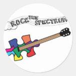 Oscile el logotipo del espectro etiqueta