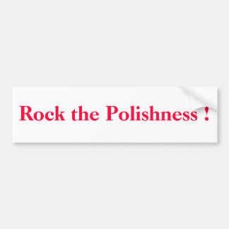 ¡Oscile el Polishness! Pegatina Para Auto