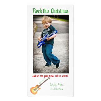 Oscile esta tarjeta de la foto del navidad tarjeta fotográfica personalizada