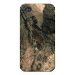 Oscile la pintura de un animal de cuernos, c.17000 iPhone 4 carcasas