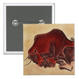 Oscile la pintura de un bisonte, último Magdalenia Pin Cuadrada 5 Cm