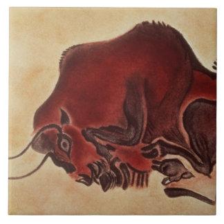 Oscile la pintura de un bisonte, último Magdalenia Azulejo Cuadrado Grande