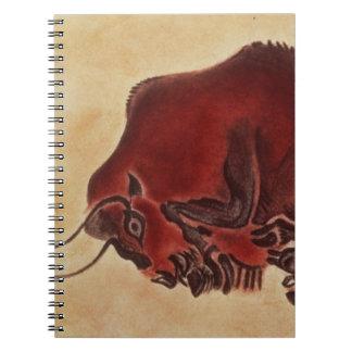 Oscile la pintura de un bisonte, último Magdalenia Libro De Apuntes Con Espiral