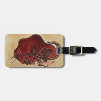 Oscile la pintura de un bisonte, último Magdalenia Etiqueta Para Maleta