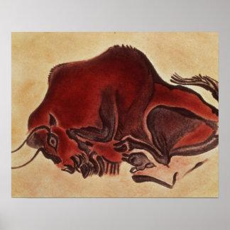 Oscile la pintura de un bisonte, último Magdalenia Póster