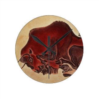 Oscile la pintura de un bisonte, último Magdalenia Reloj Redondo Mediano