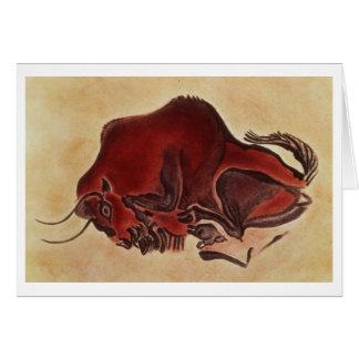Oscile la pintura de un bisonte, último Magdalenia Tarjeta De Felicitación