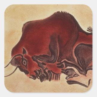 Oscile la pintura de un bisonte, último pegatina cuadrada