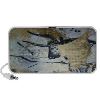 Oscile la pintura de un toro con los cuernos largo iPhone altavoz