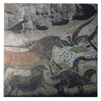 Oscile la pintura de un toro y de los caballos, c. azulejo cuadrado grande