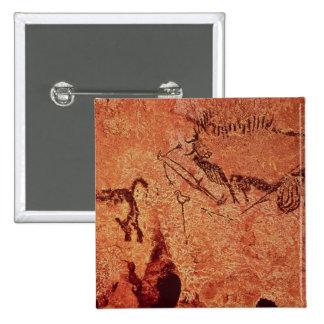 Oscile la pintura de una escena de la caza, c.1700 pin cuadrada 5 cm