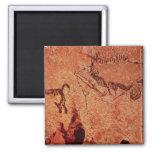 Oscile la pintura de una escena de la caza, c.1700 imán cuadrado