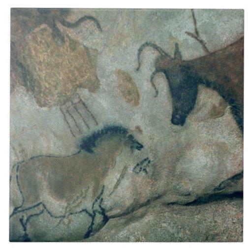 Oscile la pintura que muestra un caballo y una vac azulejo ceramica