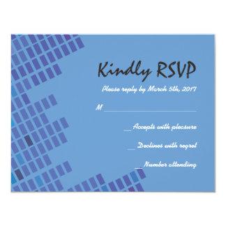 Oscile la tarjeta de Repy de la invitación de