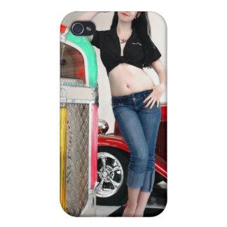 Oscile y ruede el Pin de coche de carreras de los  iPhone 4/4S Fundas
