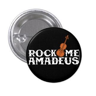 Oscíleme botón retro del instinto de Amadeus Pin Redondo De 1 Pulgada