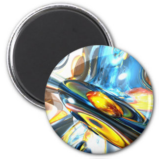 Oscillating Color Abstract 2 Inch Round Magnet